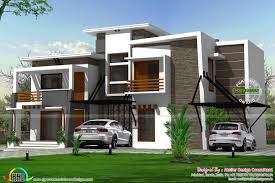 flat roof modern residence kerala home design bloglovin u0027