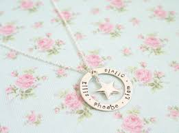 Mothers Necklace With Children S Names Mothers Necklace Sterling Silver Family Necklace Personalised