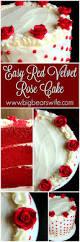 Red Velvet Rose Cake Big Bear U0027s Wife