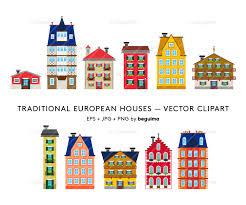 traditional european houses buildings clip art architecture clipart traditional european