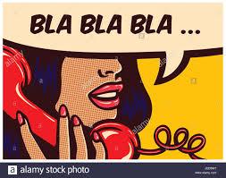 roy lichtenstein vector pop style comic book panel with talking nonsense bla bla