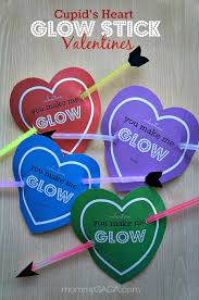 diy valentine cards for kids cupid u0027s heart glow stick valentines