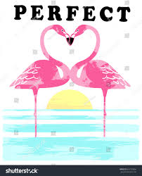 vintage tropical graphic summer graphic flamingo stock vector