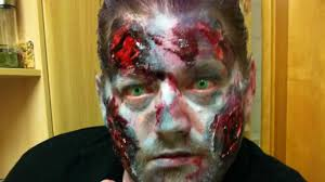 halloween make up horror zombie scary burnt face make up resident