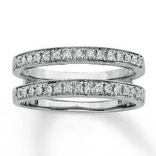 double wedding rings images Diamond wedding bands 1 3 ct tw round cut 14k white gold jpg