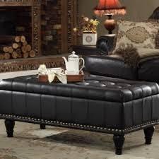 Leather Storage Ottoman Coffee Table Inspiring Black Leather Ottoman Coffee Table For Your Living Room