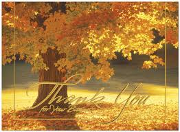 business thanksgiving cards radiant thank you 9520u aa