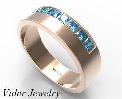 mens princess cut diamonds wedding ring vidar jewelry unique princess cut blue wedding band vidar jewelry unique