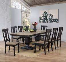 Dining Room Table With Wine Rack Charcoal Oak Wood Transitional Rectangle Dining Room Table