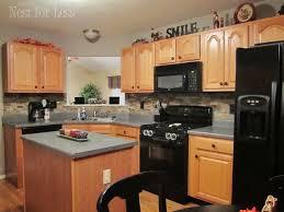 kitchen backsplash with oak cabinets and white appliances oak cabinet backsplash home decor and interior design
