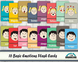 and basic emotions flash cards for educational