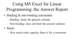 1 24 linear programming u0026 sensitivity analysis review u2013lp