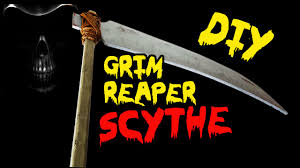 how to make a grim reaper scythe prop diy halloween decorations