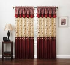 amazon com fancy collection embroidery curtain set 2 panel drapes