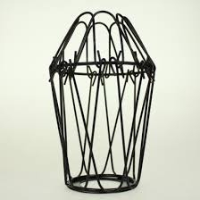 wire cage l shade black wire bulb cage lshade