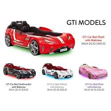 Race Car Beds Cilek Gti Race Car Twin Bed With Mattress Pokkadots Com