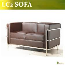 lc2 sofa u best high quality lc2 loveseat 2 seater leisure le corbusier 2