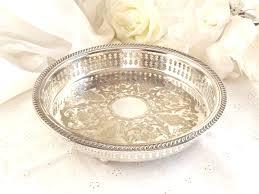 silver plated vanity tray french farmhouse shabby chic decor