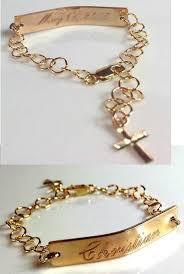 Gold Baby Name Bracelets Christening Bracelet Baby Baptism Name Bracelet Children