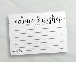 and groom cards advice and wishes cards mr and mrs calligraphy printable advice