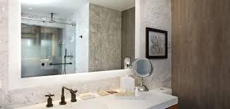 Backlit Mirrors Bathroom Bathroom Lighting Custom Lighted Led And Backlit Mirrors Seura