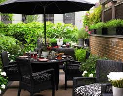 Patio Table With Umbrella Hole Patio U0026 Pergola Circular Patio Furniture Table Umbrella Walmart