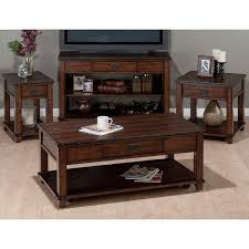 amazon com chairside table in cassidy brown finish kitchen u0026 dining