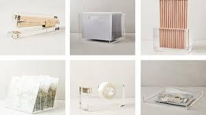 Lucite Desk Accessories Acrylic Desk Accessories Jett Desk White Aqua Office Inspiration