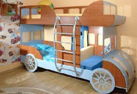 Cars Bunk Beds Colorful Bedroom And Playroom Design Car Bed Bed Furniture