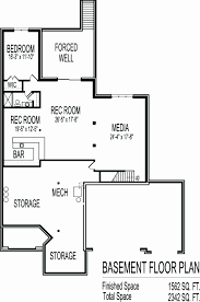 ranch floor plans with walkout basement home plans with finished walkout basement awesome walkout bungalow