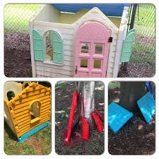 doc mcstuffins playhouse a day in the life of a sahm little tikes playhouse makeover