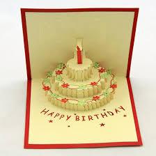 korean birthday happiness cake 3d staff birthday three dimensional paper cutting
