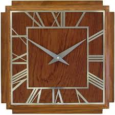 amazon com roger lascelles a square wooden deco clock 14 2 inch
