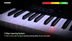 piano with light up keys casio lk 160 key lighting keyboard youtube