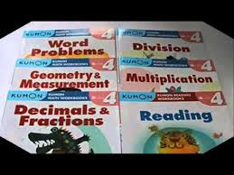 kumon grade 4 math verbal workbooks 6 books reading addition and