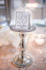 silver wedding table numbers table number on a cupcake serving stand so cute the not wedding