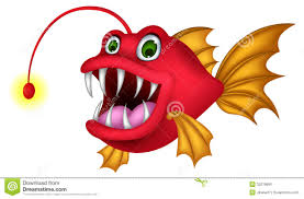 red monster fish cartoon stock images image 32219854