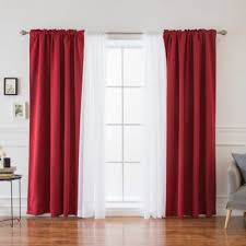 buy red sheer curtains from bed bath u0026 beyond