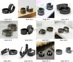 hoop earrings for men 2017 jewelry steel men s hoop earrings stainless steel black