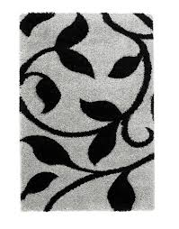 Black Modern Rugs Carved 7647 Grey Black Modern Rug