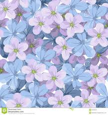 purple and blue flowers seamless background with blue and purple flowers stock vector
