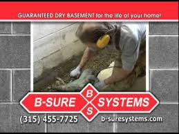 b sure systems basement waterproofing youtube