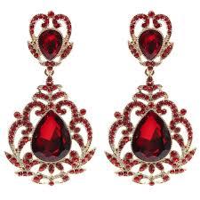 on earrings statement rococo drop chandelier clip on earrings