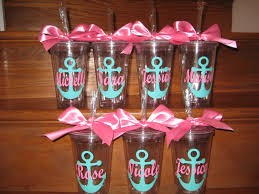 nautical wedding party personalized anchor tumbler bridal party bachelorette party