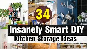 kitchen diy ideas 34 insanely smart diy kitchen storage ideas youtube