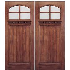Wood Exterior Door Craftsman Style Wood Entry Doors And Mission Wood Doors