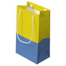 blue gift bags blue and yellow gift bags zazzle