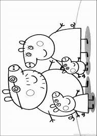 peppa pig coloring pages u2013 birthday printable