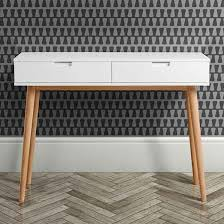 mid century console table hackney white oak mid century console table i love retro
