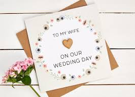 To My Wife On Our Wedding Day Card Gorgeous Rustic Hand Crafted Wedding Stationery From Norma U0026dorothy